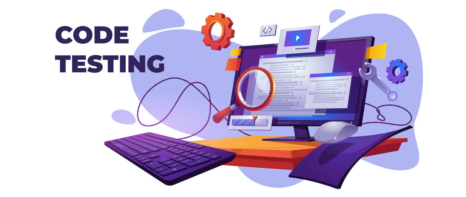 Code testing functional test for pc cartoon banner